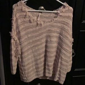 Free People Holey Knit Sweater